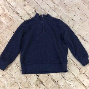 NWOT Boys blue half zip sweater size 4T